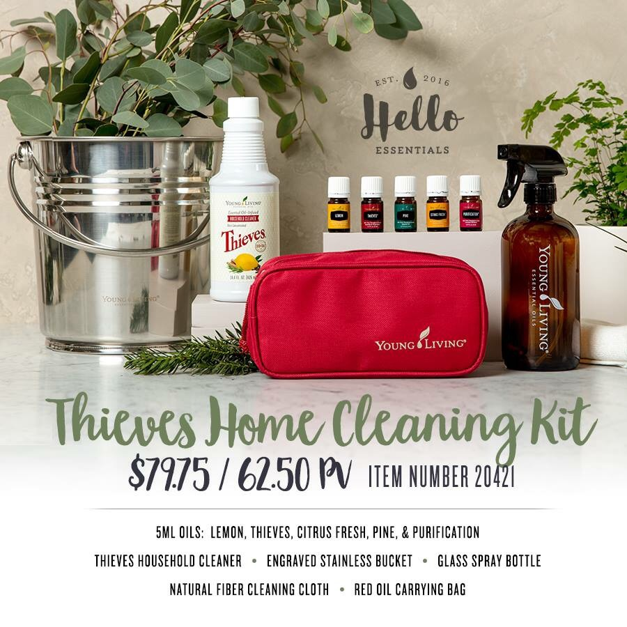 All New Thieves Home Cleaning Set Young Living Essential
